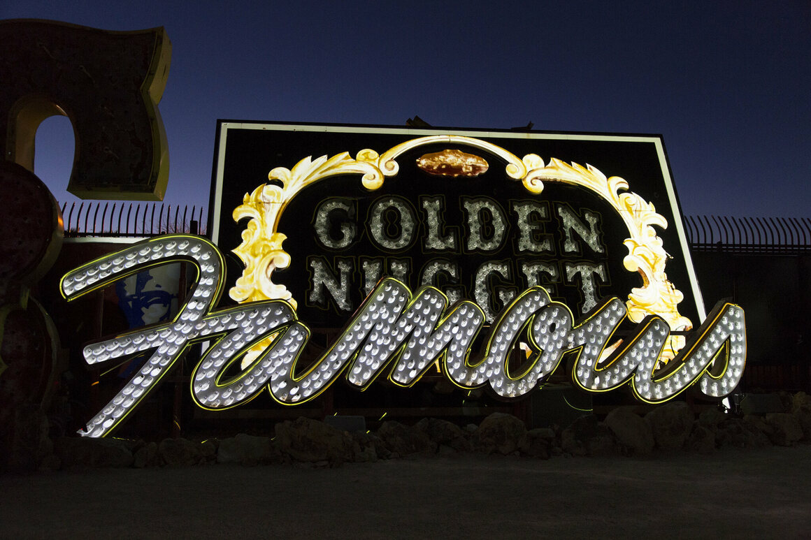 Some of Las Vegas's most famous signs ended up in the Boneyard.