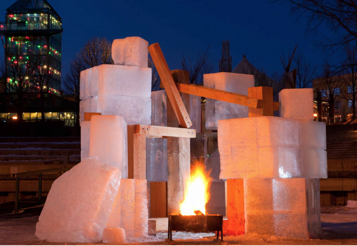 """Five Hole,"" by Gehry Partners, melted at the end of the season."
