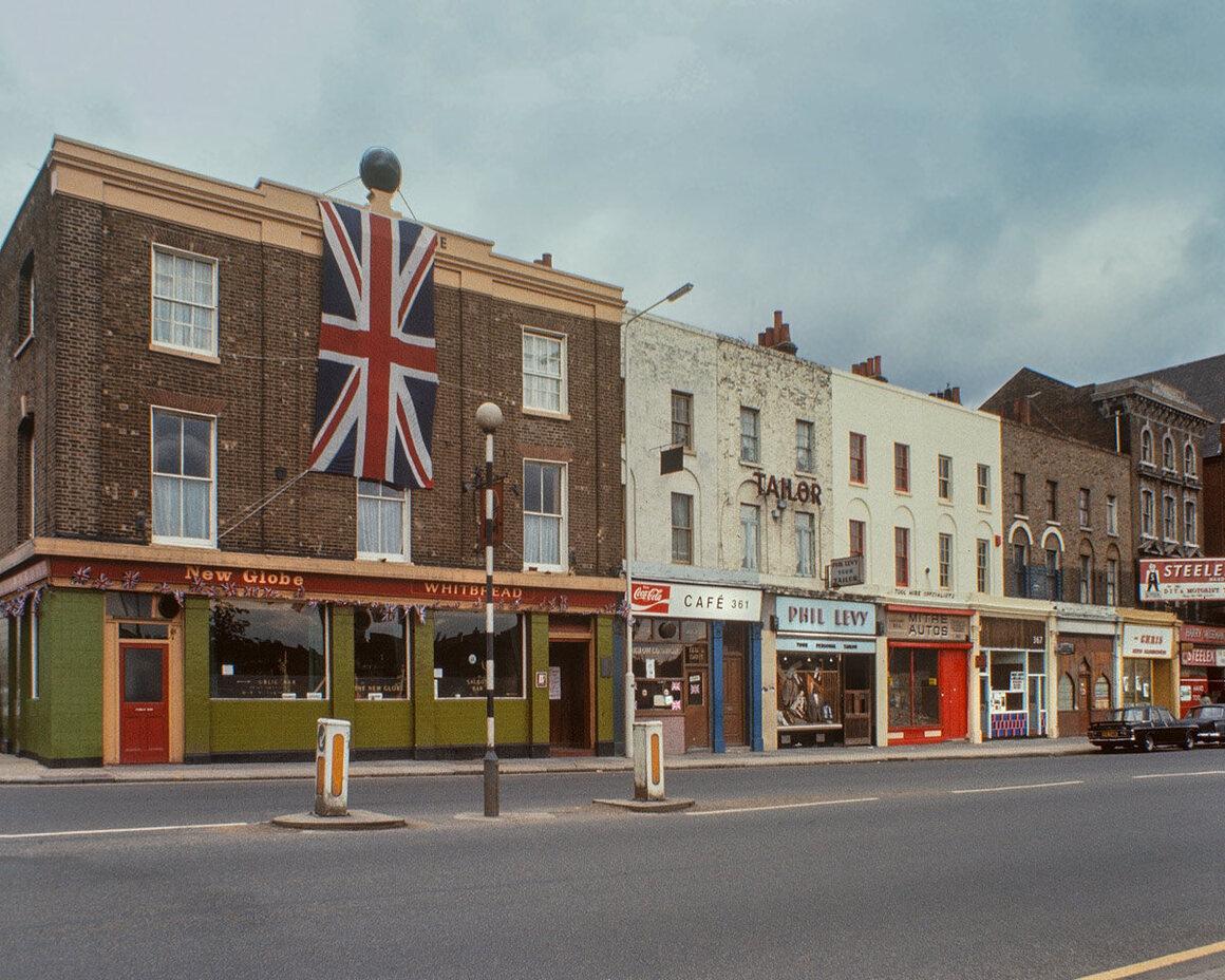 Mile End Road, 1977.