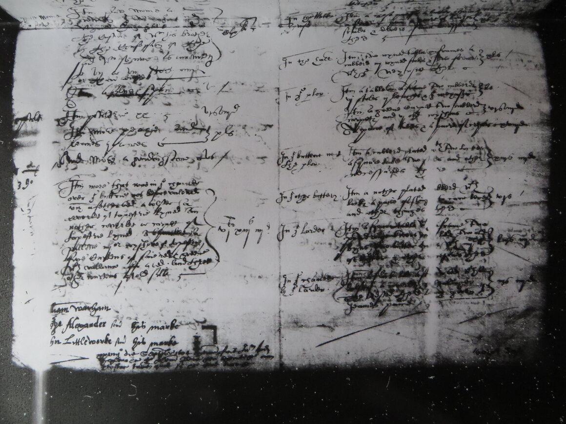 A manuscript in bad shape.