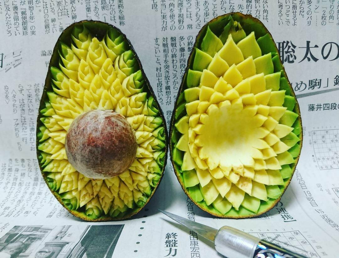 Imagine opening an avocado and seeing this.