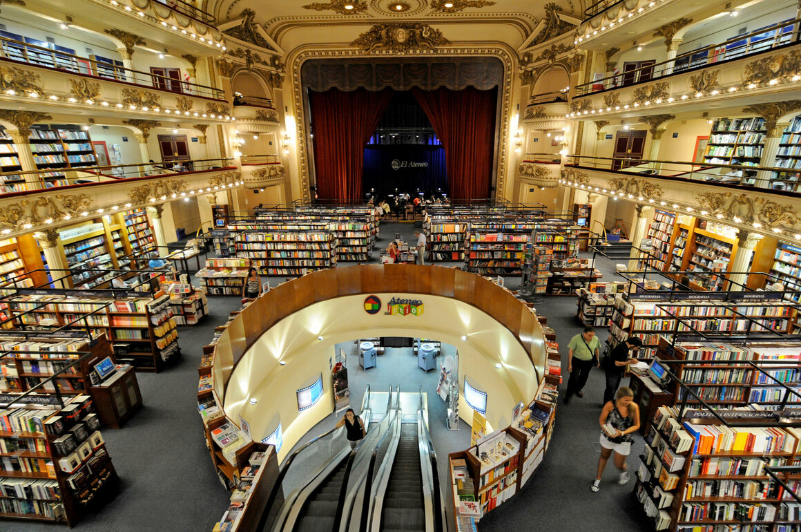 """A theater is transformed in Buenos Aires, a token """"book city."""""""