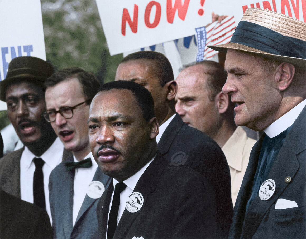 Dr martin luther king jr during the civil rights march on washington