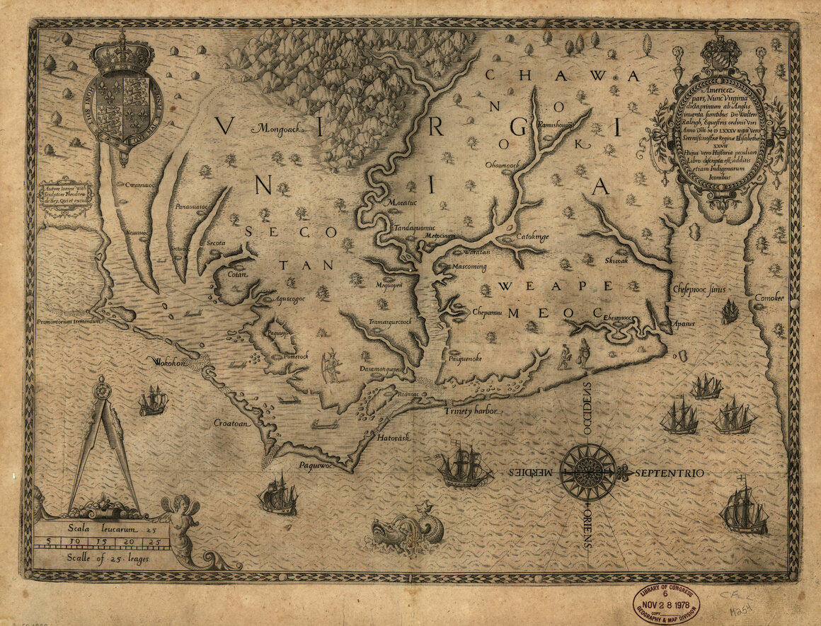 In Early Maps of Virginia, West Was at the Top - Atlas Obscura