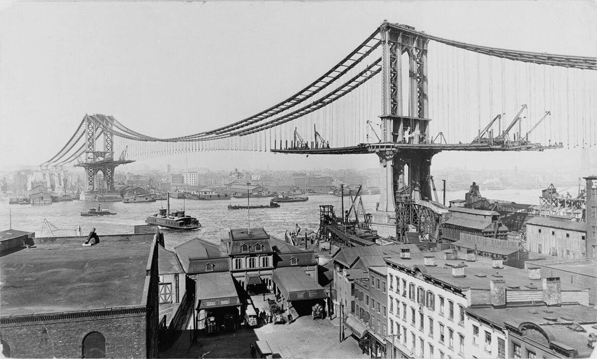 Manhattan Bridge, March 23, 1909.