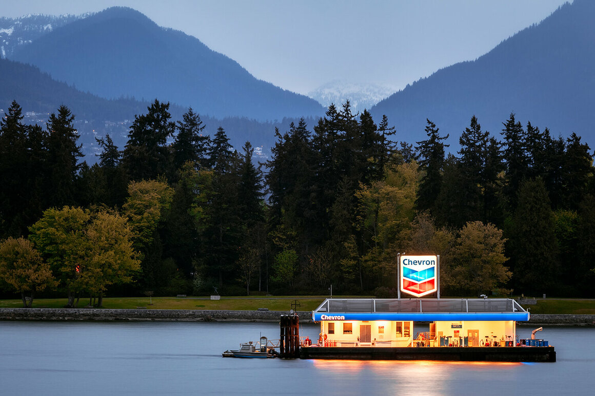 A Chevron station near Vancouver, British Columbia, to fill up another mode of transport: motorboats.