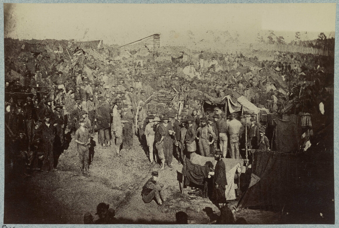 Andersonville prison camp was notorious for its squalid conditions.