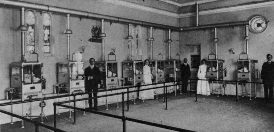 Couney visited the Pan-American Exposition in Buffalo with his baby incubators, 1901.