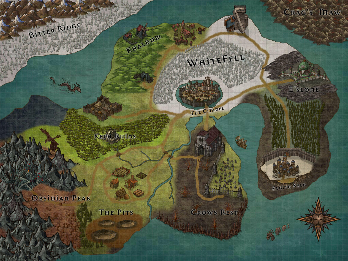 24 Amazing, Homemade Dungeons & Dragons Maps - Atlas Obscura