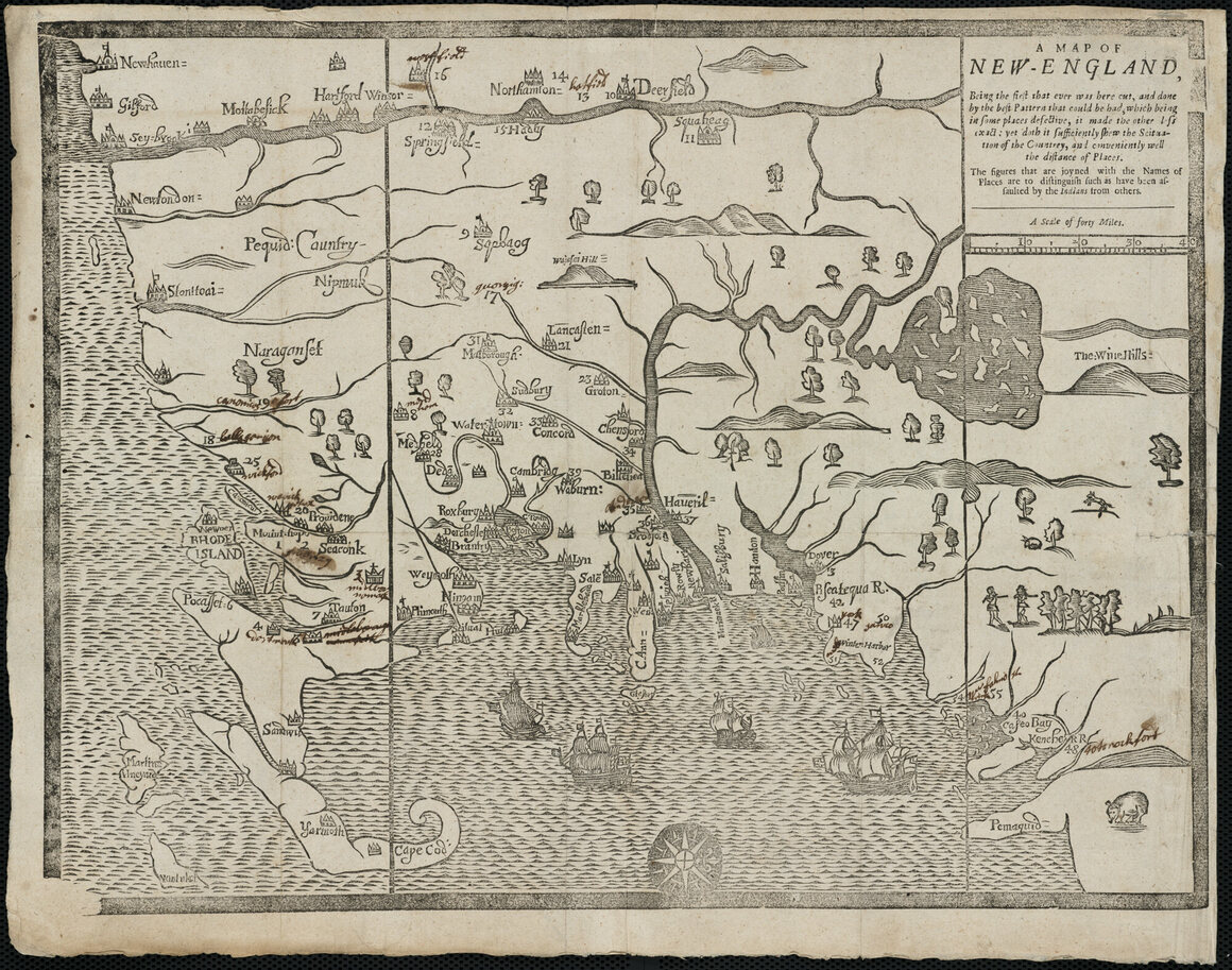 """""""A map of New-England, being the first that ever was here cut."""""""