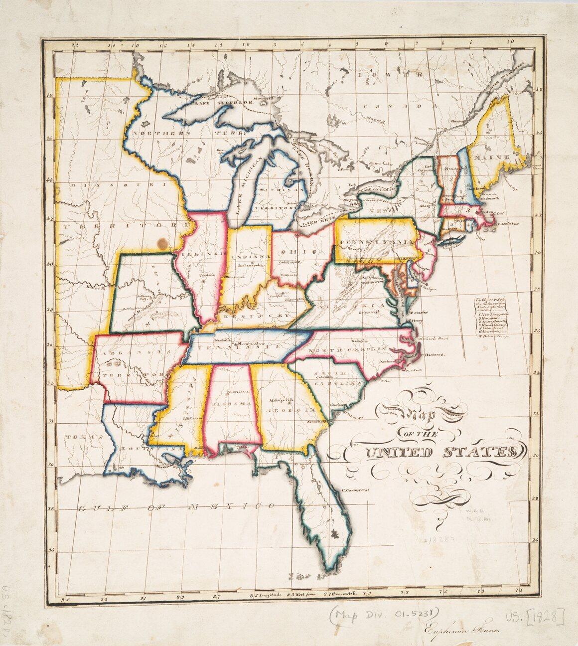 In Its First Decades The United States Nurtured Schoolgirl - Atlas-us-map