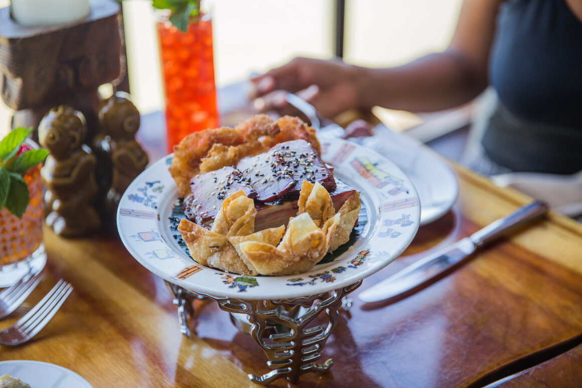 Trader Vic's crab rangoon is thought to be the original.