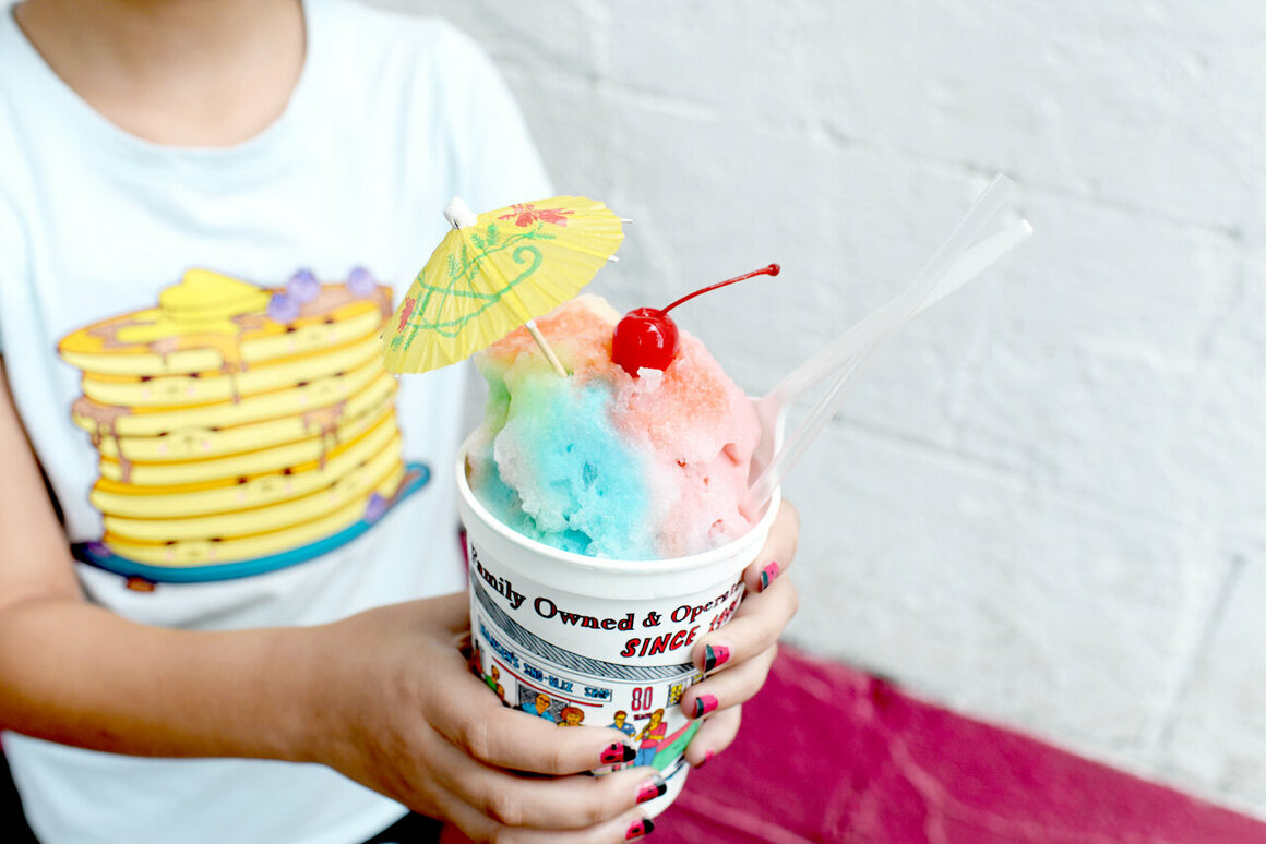 """According to Ashley, sno-balls are """"air conditioning for your tummy."""""""