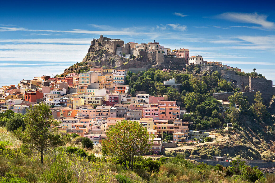 The town of Castelsardo, in northwest Sardinia.