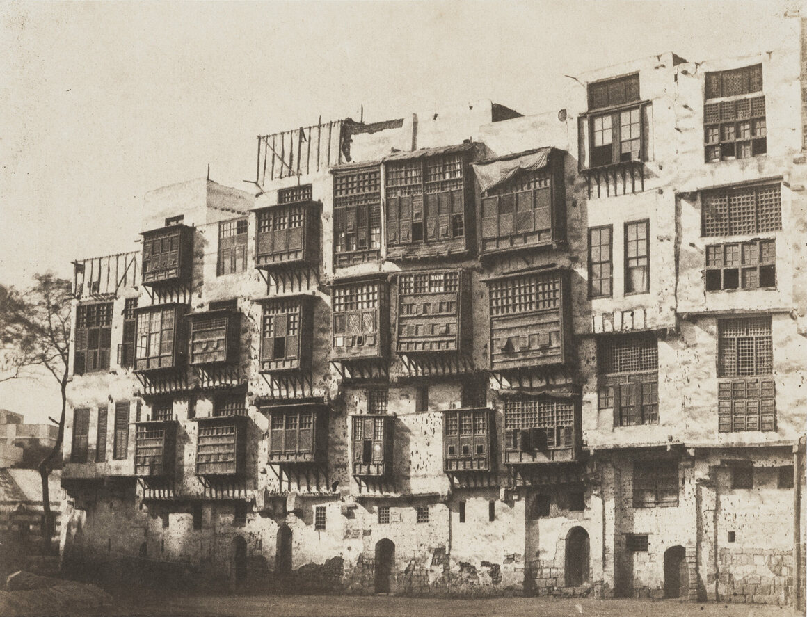 Greene's photographs of homes in Cairo don't include many            traces of the people who lived there.