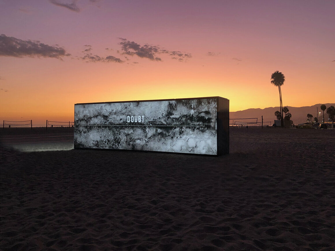 Candy Chang and James A. Reeves, <em> Light the Barricades</em>, 2019. An interactive public art experience reimagines a wall as a site for contemplation.