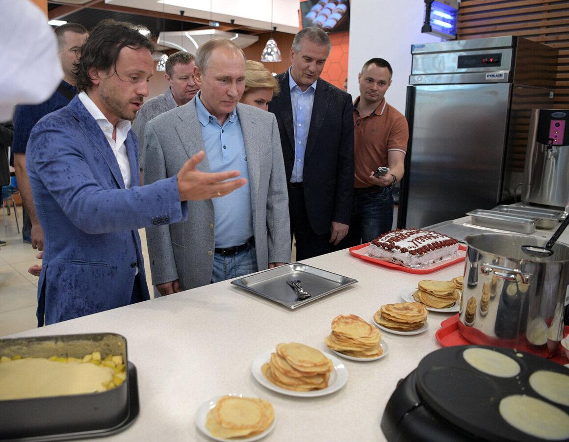Russian President Vladimir Putin visiting Artek in 2017.