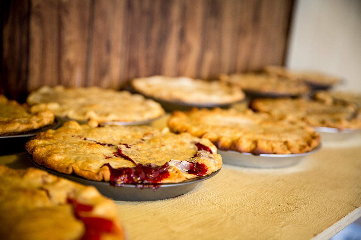 Cherry pies at the Takotna checkpoint in 2014.