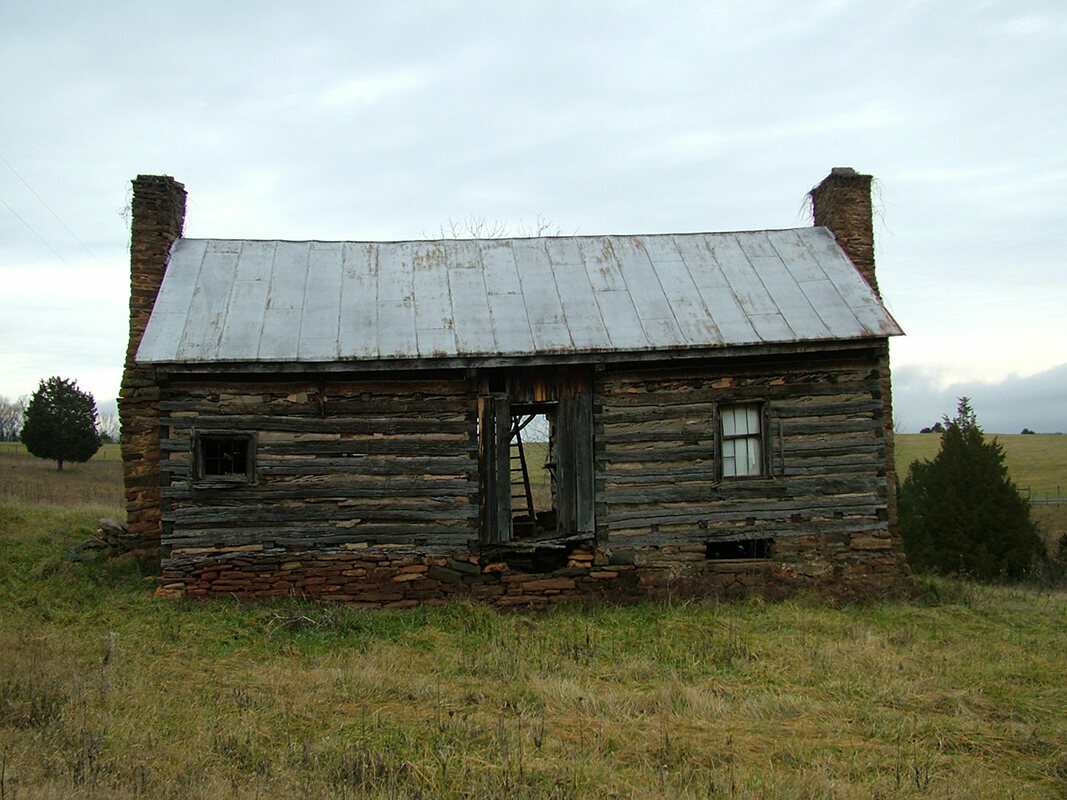 A slave house at Ivy Cliff in Bedford County, Virginia. This site was documented by the Virginia Slave House Project, which chronicles the architecture of slavery in the commonwealth.