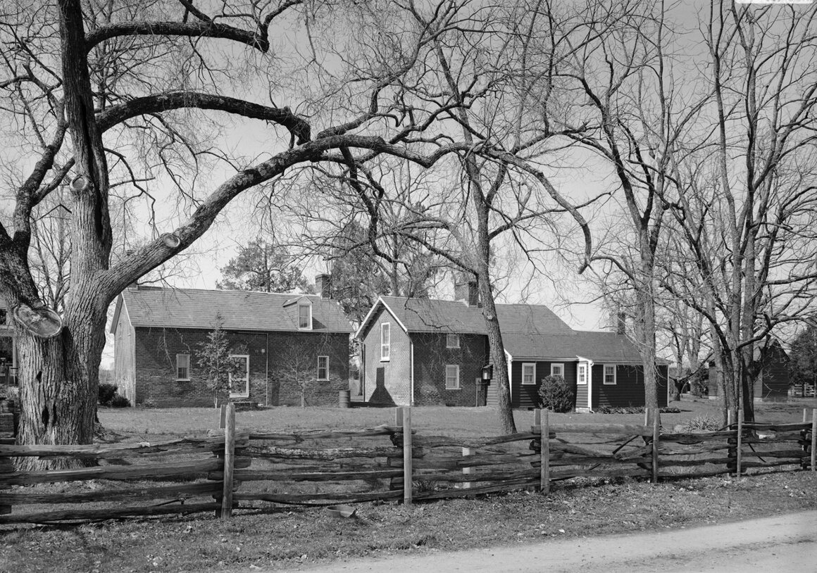 The houses where enslaved people lived at Bracketts Farm in Louisa County, Virginia.