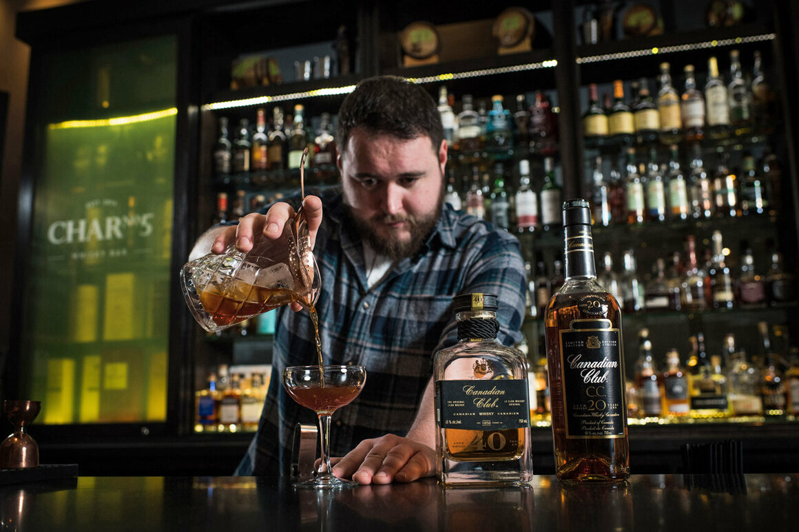 Ray Daniel, head bartender at Char No. 5 in Toronto, prefers to use Canadian whisky in his cocktails because of its range of flavors.