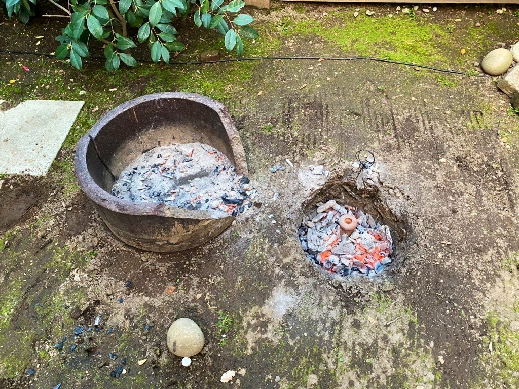 Upon archaeological examination, Dr. Love was able to decode ancient baking methods for Blackley to recreate in his backyard. CAROLINE QUINN/SEAMUS BLACKLEY