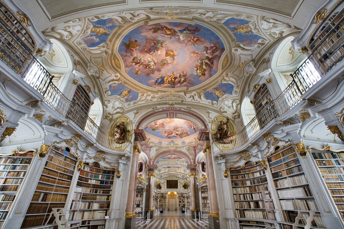 Admont Abbey in Austria is home to the world's largest monastic library.