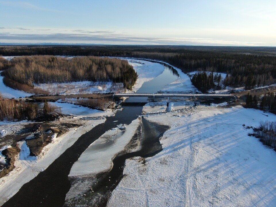 Sungai yang baru rusak pada April 2020.