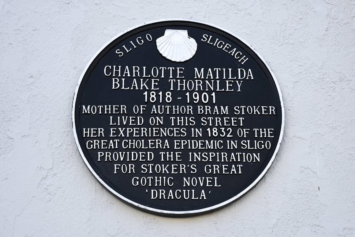 Stoker's mother, Charlotte Thornley, was 14 years old when the outbreak hit Sligo.