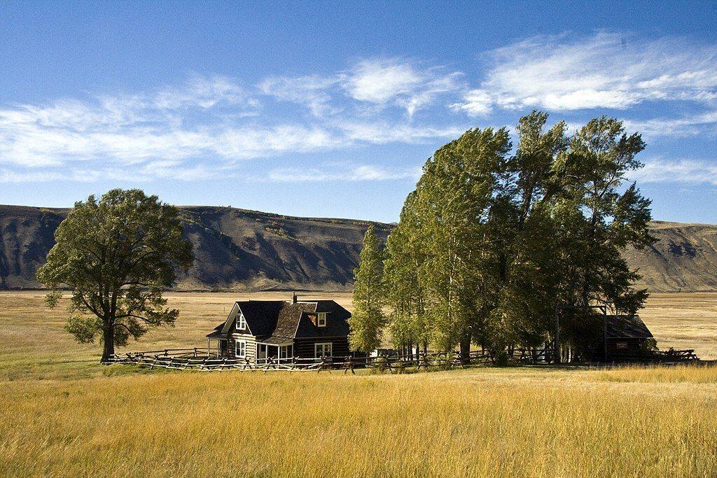 Still standing, Grace Miller's ranch is now part of the National Elk Refuge.