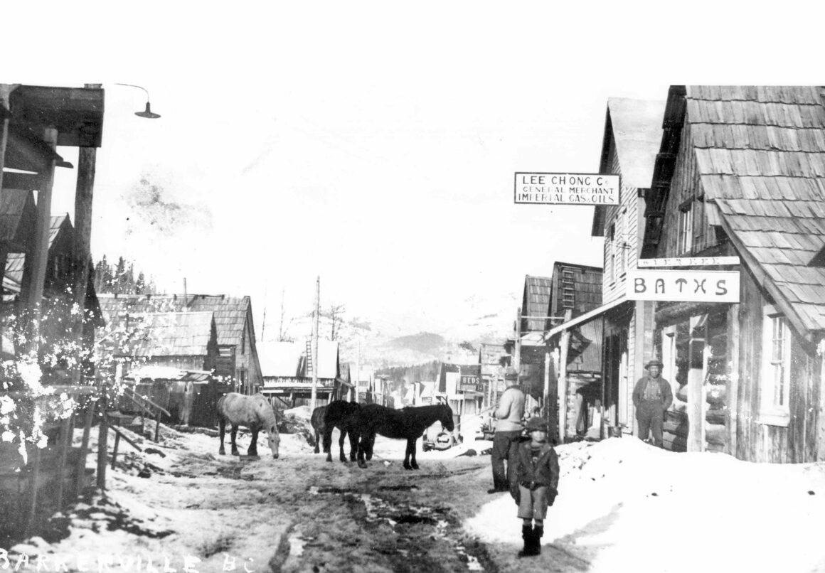 An archival photo of the Lee Chong store in Barkerville.