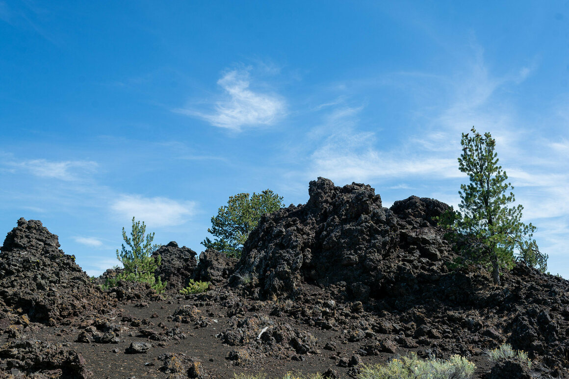 The landscape of Craters of the Moon is also studded with microplastics.
