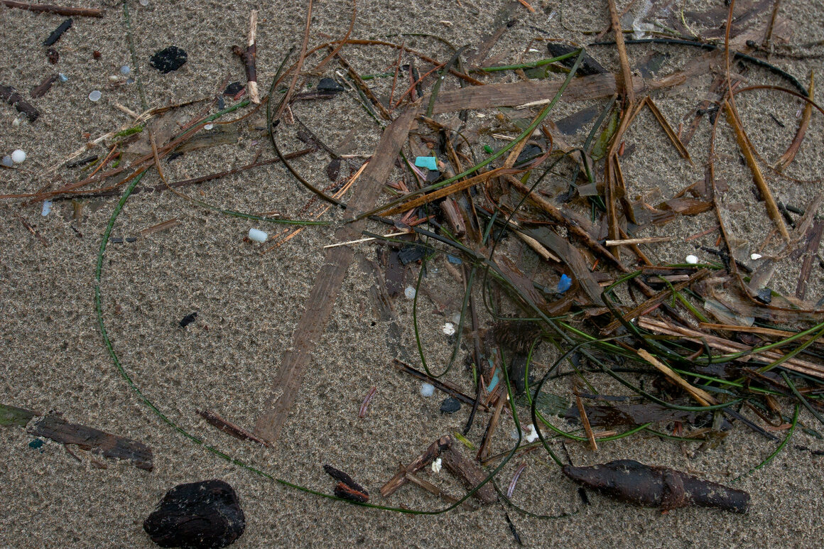 Plastic pollution is known to afflict the sea, but microplastics are caught in the wind, too.