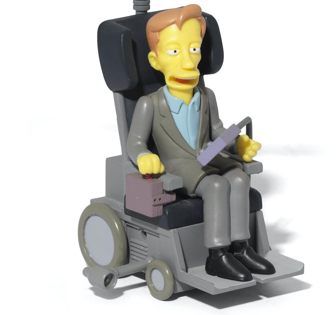 Stephen Hawking's personal <I>The Simpsons</i> figurine.