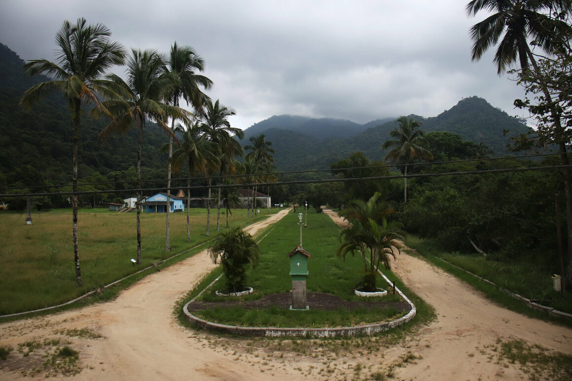 A view of Ilha Grande from the second floor of the prison.