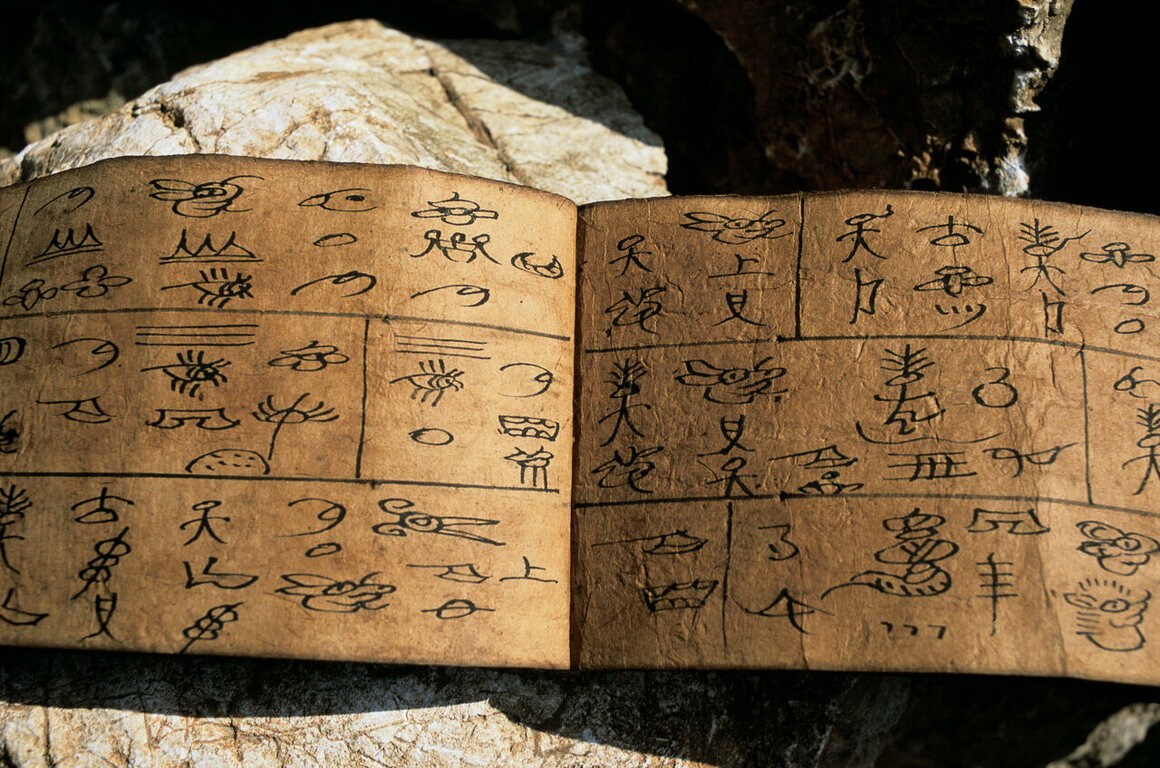 The Naxi script, Dongba, is the only pictographic writing system in use today.