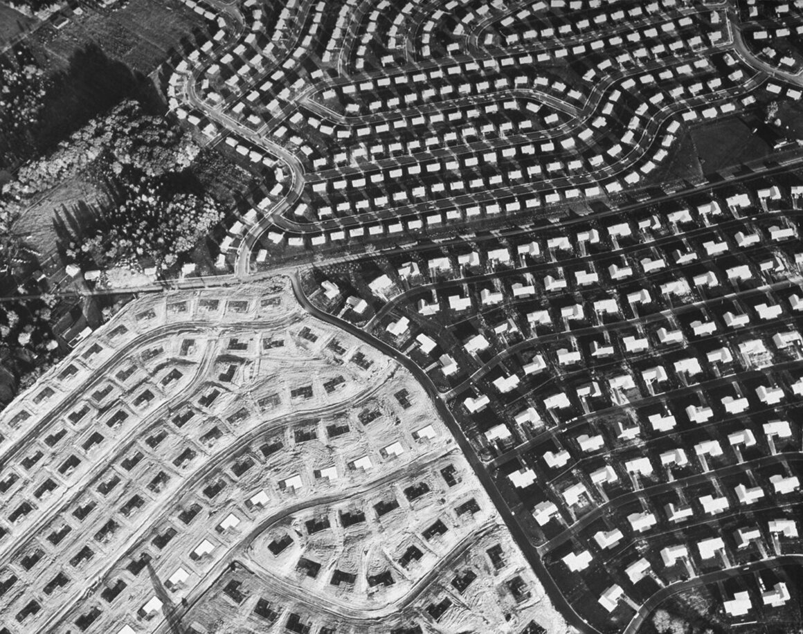 An aerial view another Levittown, in Pennsylvania, in the 1950s.