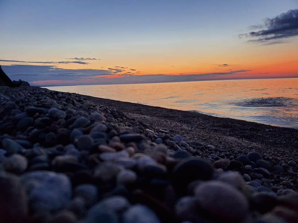 Rintamaki canvasses the shores of the Great Lakes after dark.