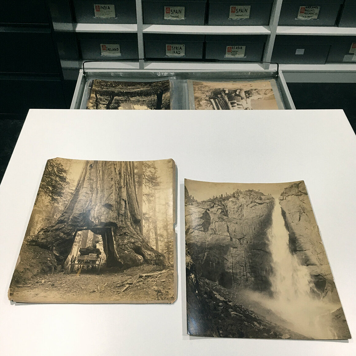 Watkins's prints of Yosemite at the Getty Images Archives.