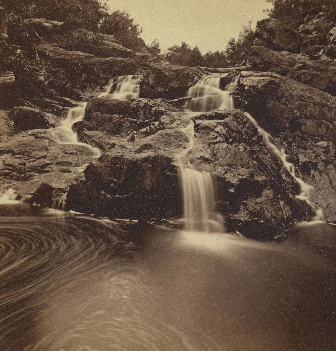 Duck Brook, Mt. Desert, in what is now Acadia National Park in Maine, Bryant Bradley, 1885.