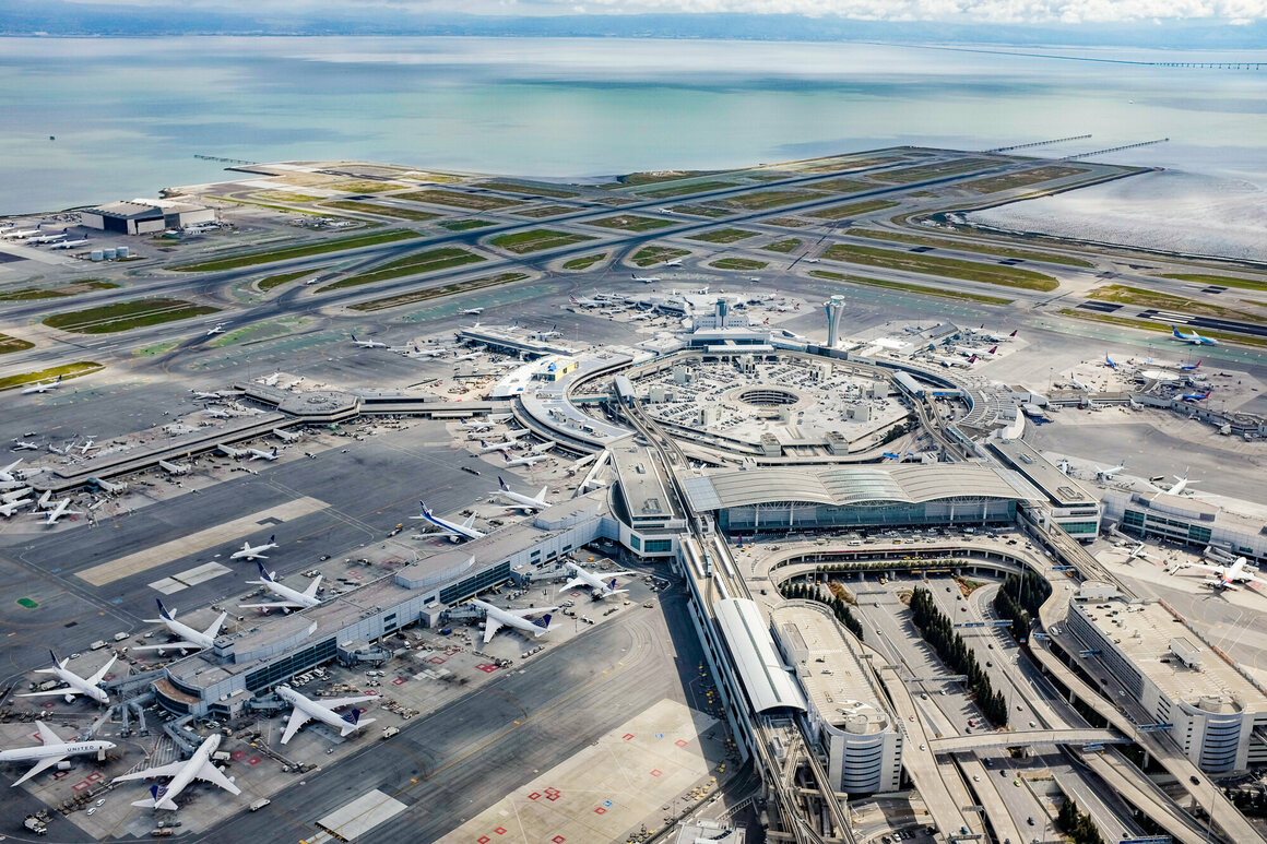 The San Francisco International Airport site is deep and prone to sea level rise.
