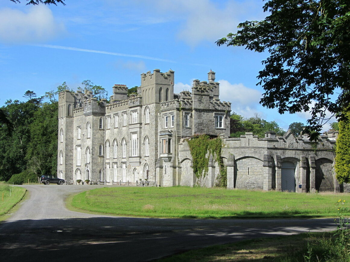 Dunsany Castle is surrounded by a 1,600 acre estate in central Ireland.