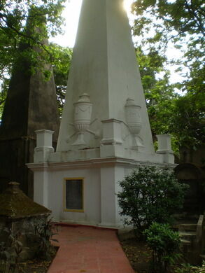 The obelisk of Sit William Jones