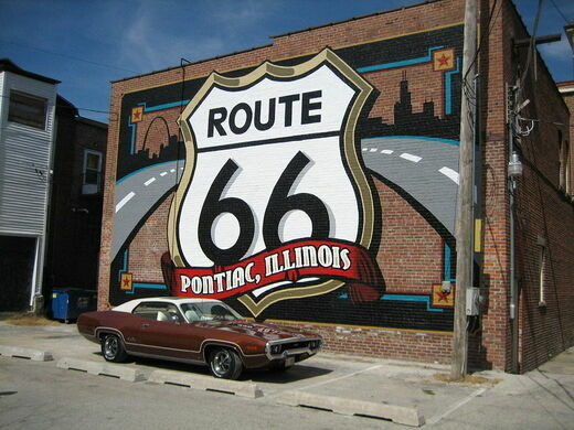 Route 66 in Pontiac, Illinois