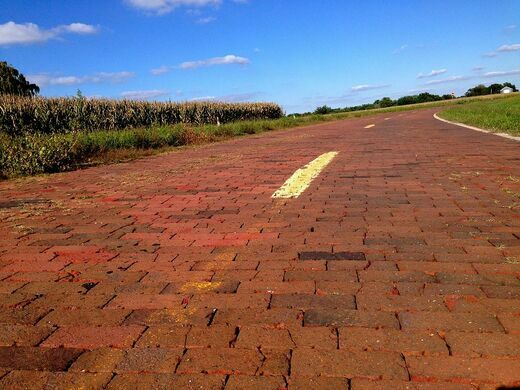 Last bricked section of Route 66
