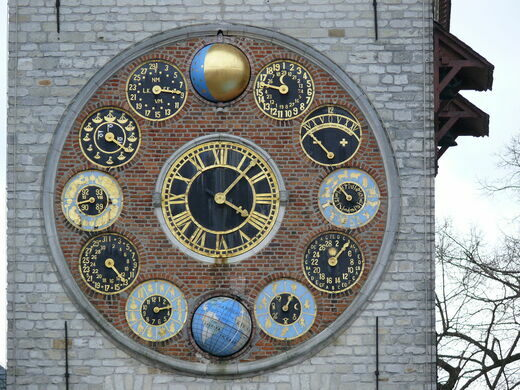 The Zimmer Tower Clock Face