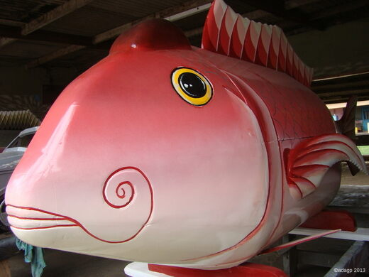 The fish is a common design used in Ghana.