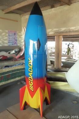 Toy rocket coffin by Eric Adjetey Anang