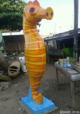 Sea Horse Coffin by Eric Adjetey Anang, made for the owner of a tropical fish store in Florida