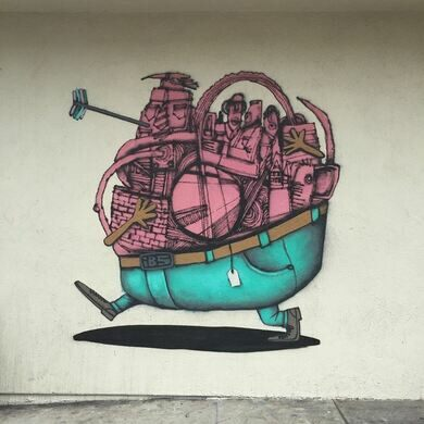 Work by French artists Ador and Semor